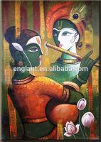 Modern Indian radha krishna oil paintings for sale