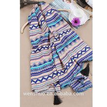 Winter Assorted Tassel Stripe Scarf Shawl