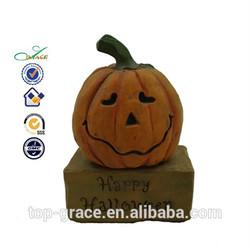 pumkin with face figurine resin halloween pumpkin craft