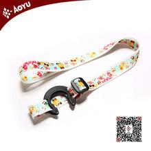 Promotional heat transfer printing custom 90*1.5cm water bottle holder neck lanyard strap wholesale,