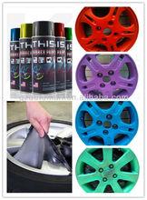 Hot sale black dip coating ,plastic dip for the car hub,peelable rubberized rubber coating