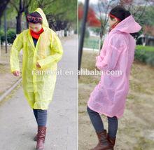 cheapest PE disposable rain coat/promotional rain coat/emergency rain coat