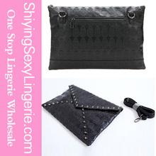 2014 Party Black Studded Skull Clutch Bag Wholesaler