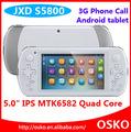 5 polegadas mtk6582 quad core 3g wcdma android tablet 4.2 jxd jogador jogos download grátis