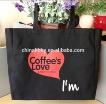 Factory supply fashion durable canvas Cotton Shopper Bag