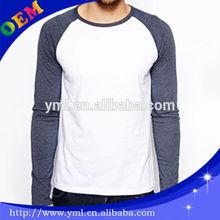 fashion blank raglan sleeve t shirt mens long sleeves tee