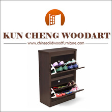 Black Solid Wood Sturdy Shoe Cabinet/New Shoes Hanger Storage Wood-made Shoe Cabinet Rack Organizer