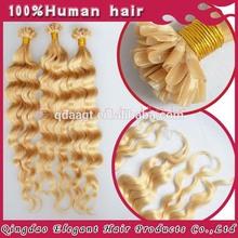 Qingdao Elegant 100%human hair Nail/U Tip Hair extension