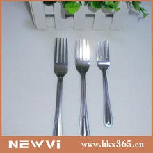 2014 customized current cute stainless steel decorative plastic large fork