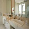 Alta calidad blanco moderno comercial de la vanidad de baño