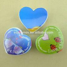 wholesale 100% cotton popular heart shape travel compress towel