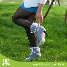 New design ladies waterproof anti slip high heel rain shoe covers