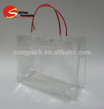 PVC Clear Portable Gift Bag Wine Packaging Bag Factory Custom Bags