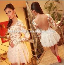 femininas white prom lace patchwork mini dress vestidos JH-DR-924