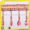 vorhang stile für dubai vorhang beaded fringe stoff trimmen mit perle