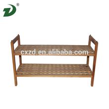 2014 Cheap new design walnut wooden shoe rack hot sale