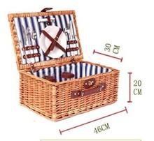 wicker picnic basket for 2 person