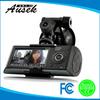Sales promotional mini 2.7 Inch 1080p dual lens GPS dvr for cars