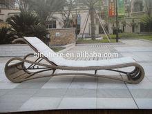 Beach garden outdoor rattan sex chaise lounge chairs AE5201