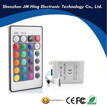 High quality IR 24 keys long range ir remote control RGB LED Controller