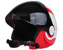 free shipping for Brand New DOT Motorcycle 3/4 Open Face Half bike Helmet With Full Face black shield Visor