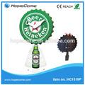( hc1310p) criativo tampa de cerveja em forma de relógio de pêndulo de tampa de garrafa de artesanato