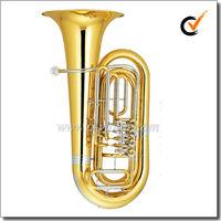 3/4 Bb Key Yellow brass Piston jinbao tuba(TU500G)