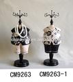 hecho a mano de estilo africano de madera decoración de exhibición de la joyería abstracta de la muñeca