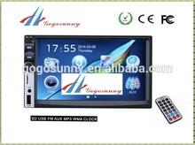In dash 7 inch 2 din 24volt car radio with car Bluetooth car GPS TV function