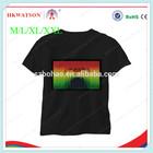 2014 china manufacturer wholesale LED light up tshirt ,Christmas el Tshirt,100%cotton el tshirt