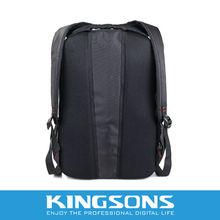 logo printed black laptop backpack for macbook air solar bags
