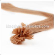 remy single drawn prebonded human hair extensions