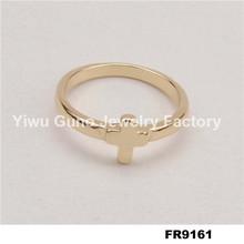 Fashion jewelry cross ring tin alloy wedding ring wonder woman ring