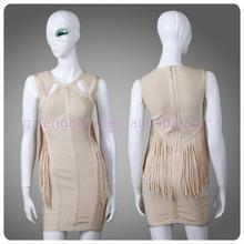 Guangzhou big ass tight evening dress fashion bodycon bandave dress for women