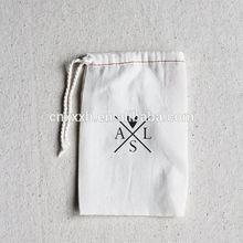 Best sell trendy cotton linen drawstring bag