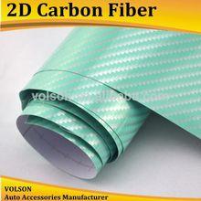VOLSON car sticker factory 2D Green Carbon Fiber for custom car emblem and 2d Carbon Fiber Size: 1.52m x 30m Carbon Fiber