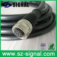 ip67/68 waterproof UL uv resistent pur m12 12 pin connector
