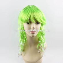 New fashion 30CM Long ice green Beautiful lolita yellow anime wig Halloween Costume Wig QPWG-2091