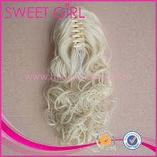 Blonde hair big clip ponytail