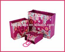 purple elegant clothing paper shopping bag