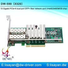 10g fiber optic dual sfp port PCI-e 8x network adapter