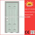 Estilo colonial porta de entrada portas de metal sc-s055