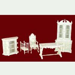 Bespaq 1/12 scale Dauphine Desk Chair wooden miniature furniture
