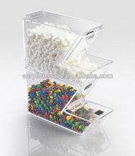clear 3 camadas caixa acrílica dos doces