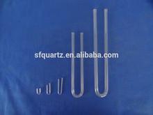 u sharp quartz tube for thermocouple or U bend quartz glass tube