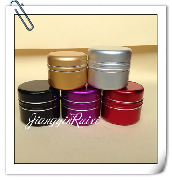 colorful aluminum cream jar for personal care