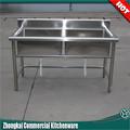 doble recipiente de acero inoxidable fregadero de la cocina con junta de drenaje industrial utilizado fregaderodelacocina