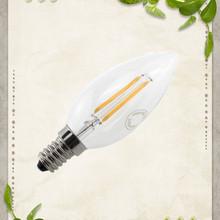 360 degree light new fashion filament led bulb 2w e14 candle light led bulb