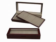 Pen Pencil Fountain Wood Display Case Storage Collector Organizer Box