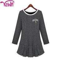 Plain long hoody dress for women